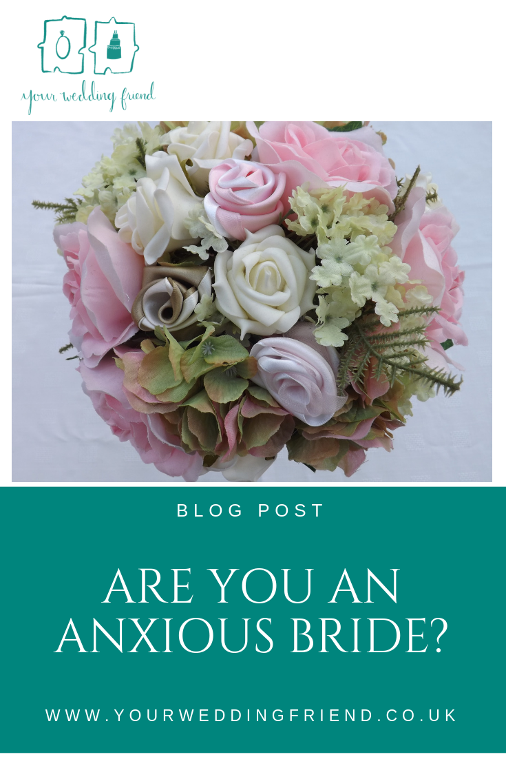 The picture of a bouquet of pink and cream flowers with the title of the blog